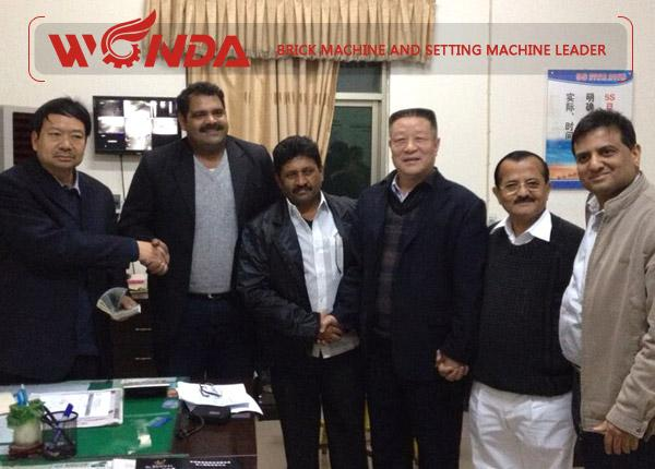Indian Client for Brick Production Line